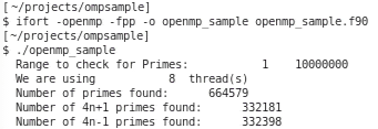 Sample compile and run