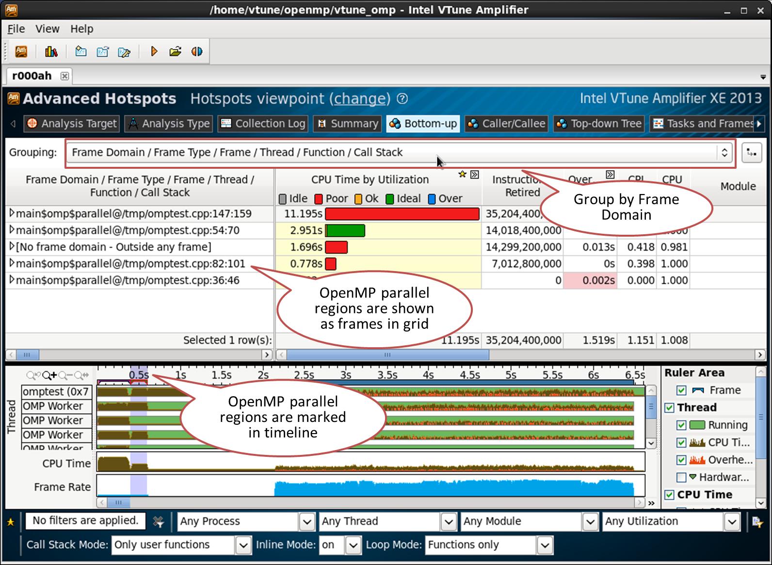 インテル® VTune™ Amplifier XE で OpenMP* アプリケーションをプロファイルする