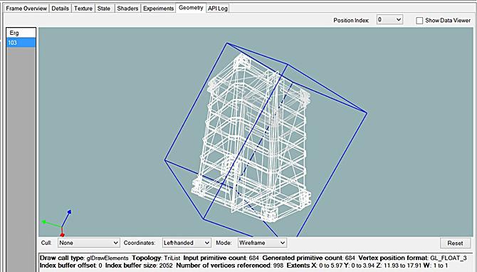 [Geometry] タブに表示されたモデル形状