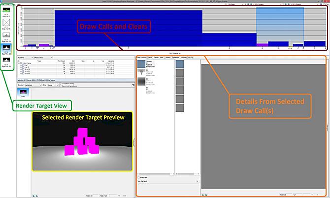 インテル® GPA Frame Analyzer に表示されたレコードの変更と関連フレーム情報