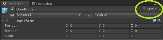 Static プロパティーをオフにしてダイナミック・オブジェクトをスタティック・セットから除外する