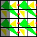 レンダリングされるピクセルグリッド