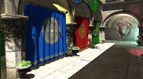 スポンザ宮殿のクロスのレンダリング