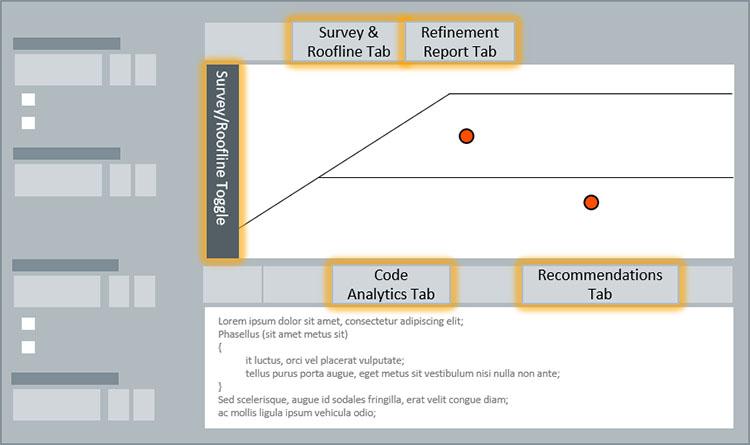 インテル® Advisor: GUI の概略図