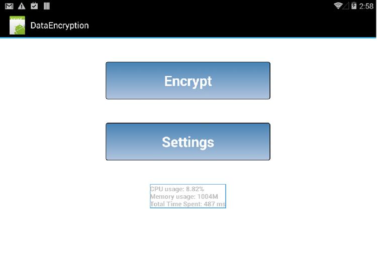 サンプルコード: データ暗号化アプリケーション