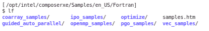 Fortran code samples