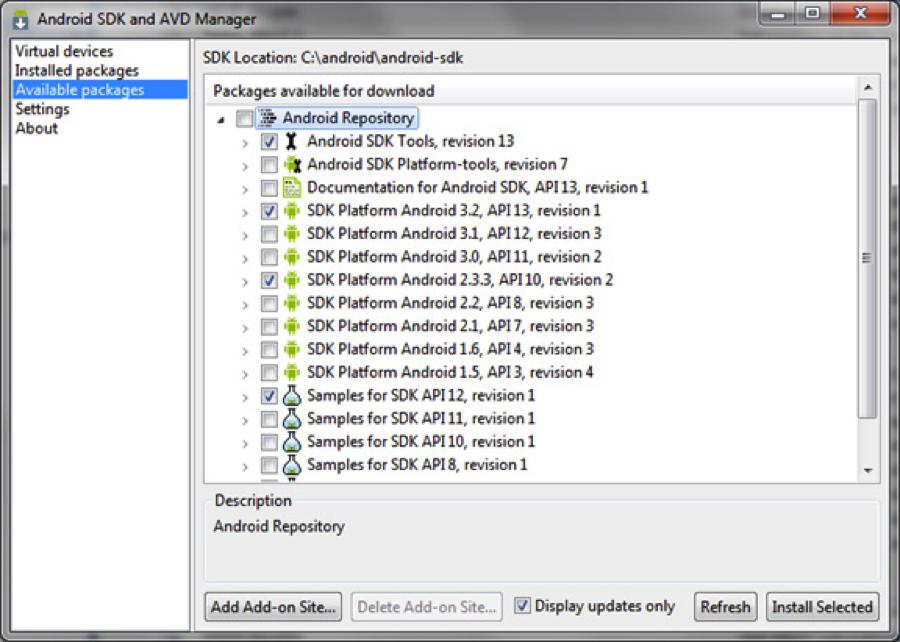 Android* 開発者向けラーニングシリーズ 5: インテル® アーキテクチャー向けに Android* SDK をインストール