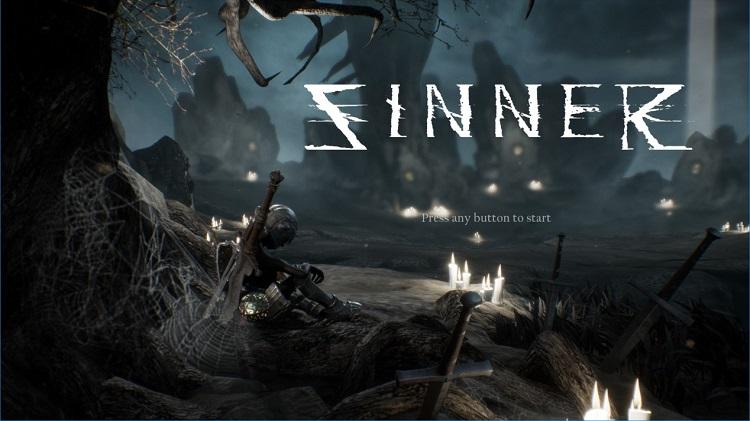 Sinner ゲームの最初のスクリーン
