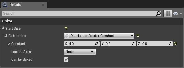[Details] パネルでパーティクルの分布を設定