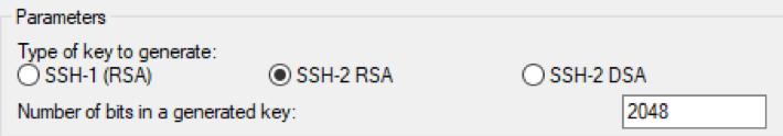 choose SSH-2 RSA screenshot