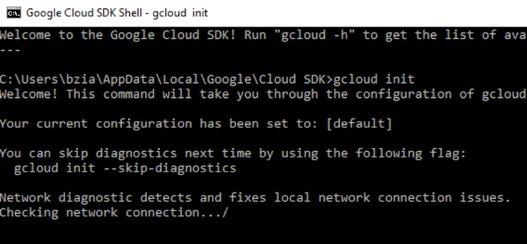 gcload init run result example