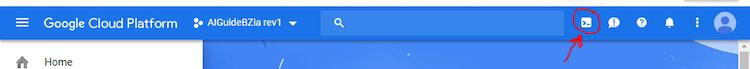 Activate Google Cloud Shell button screenshot