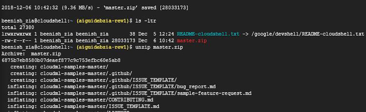 unzip master.zip example