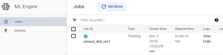 job complete GCP screenshot