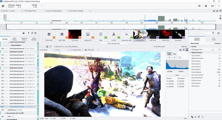 Saber Interactive のチームは、グラフィックス・フレーム・アナライザーを使用
