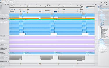 グラフィックス・トレース・アナライザーの UI の例