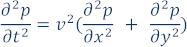 P D E describing wave propagation in the medium