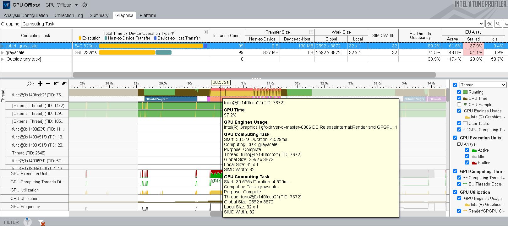 インテル® VTune™ プロファイラーで OpenCL* アプリケーションをプロファイル