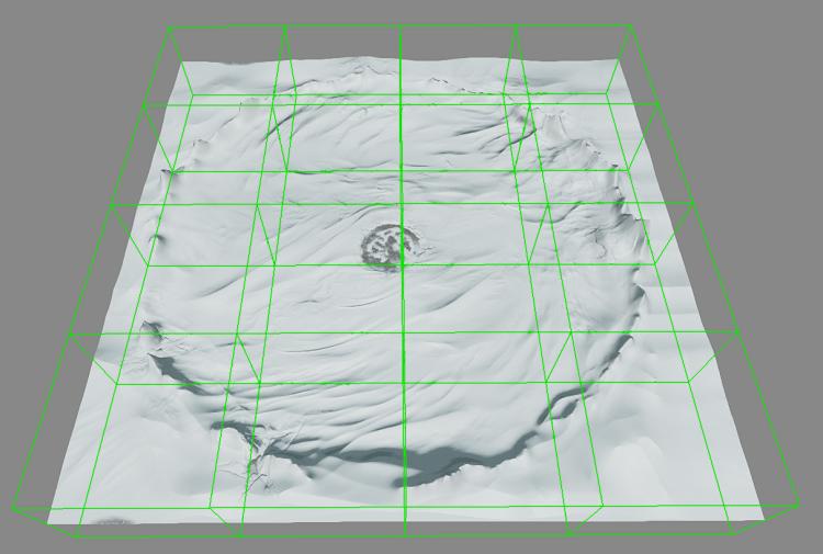 カリングに使用される地形細分割