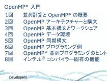 インテル® コンパイラーによる OpenMP* 入門 (全8回)