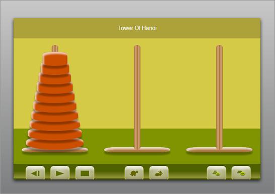 jQuery と CSS によるハノイの塔の実装