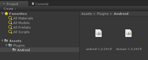 Assets/Plugins/Android フォルダー