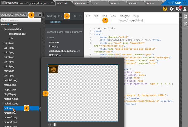 インテル® XDK を使用する HTML5 ゲーム開発入門